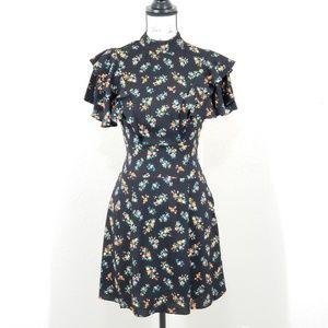NEW AFRM Viola Ruffle Mini Dress Size XS